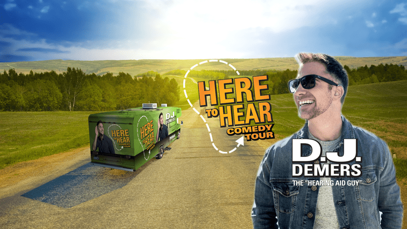 Deaf comedian's epic road trip to break down hearing loss stigmas