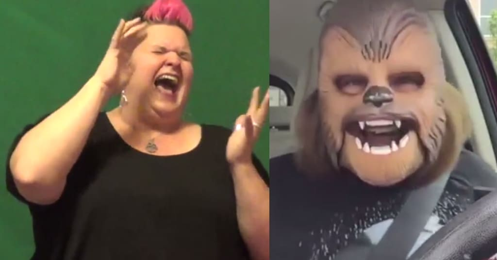 Chewbacca video in sign language