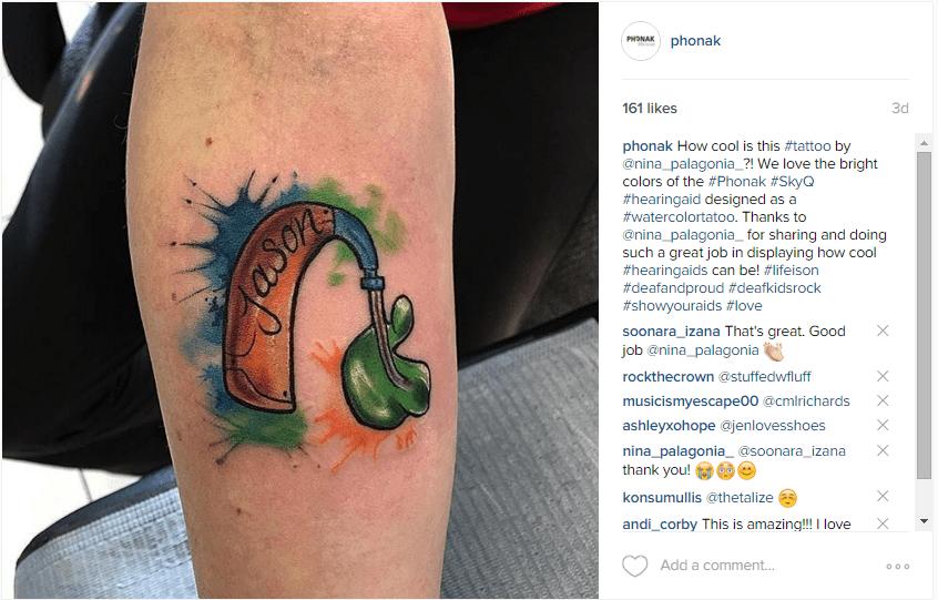 hearing aid tatoos
