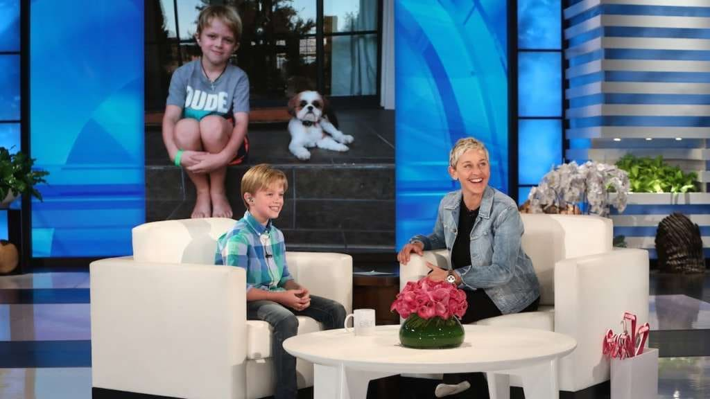 Ellen interviews 10-year-old boy raising money for hearing aids to give to others